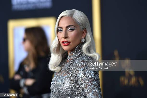 Lady Gaga arrives at the Premiere Of Warner Bros Pictures' 'A Star Is Born' at The Shrine Auditorium on September 24 2018 in Los Angeles California