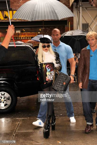 Lady Gaga arrives backstage during STING: 25th Anniversary/60th Birthday Concert to Benefit Robin Hood Foundation at Beacon Theatre on October 1,...