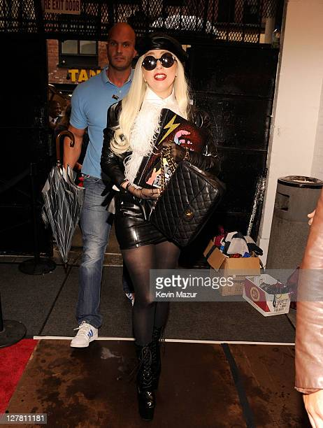Lady Gaga arrives backstage during STING 25th Anniversary/60th Birthday Concert to Benefit Robin Hood Foundation at Beacon Theatre on October 1 2011...
