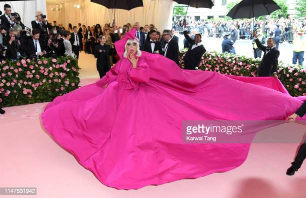 Lady Gaga arrives for the 2019 Met Gala celebrating Camp Notes on Fashion at The Metropolitan Museum of Art on May 06 2019 in New York City