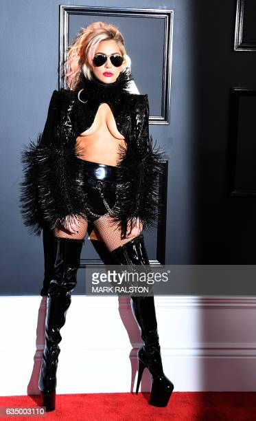 Lady Gaga arrives for the 59th Grammy Awards on February 12 in Los Angeles California / AFP / Mark RALSTON