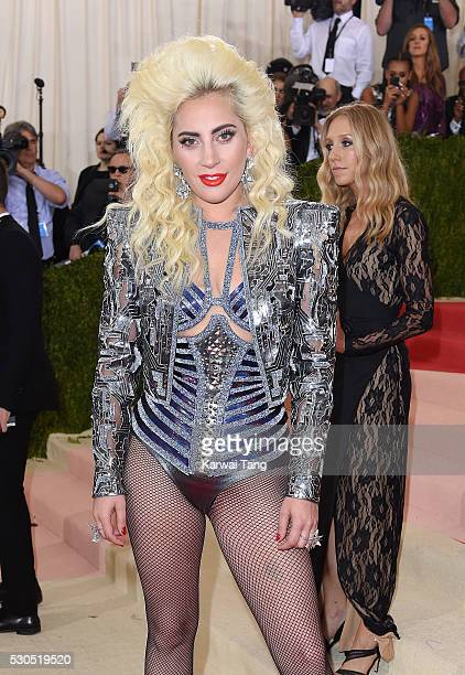 Lady Gaga arrives for the 'Manus x Machina Fashion In An Age Of Technology' Costume Institute Gala at Metropolitan Museum of Art on May 2 2016 in New...