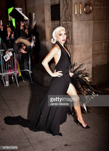 Lady Gaga arrives to the 2019 National Board Of Review Gala at Cipriani 42nd Street on January 8, 2019 in New York City.