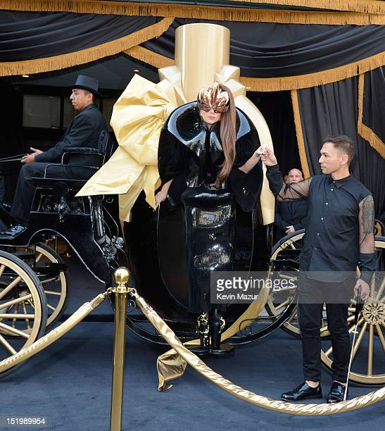 Lady Gaga arrives to the Lady Gaga Fame eau de parfum launch at Macy's Herald Square on September 14 2012 in New York City