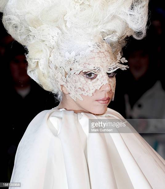 Lady Gaga Arriving For The Brit Awards 2010 At Earls Court London