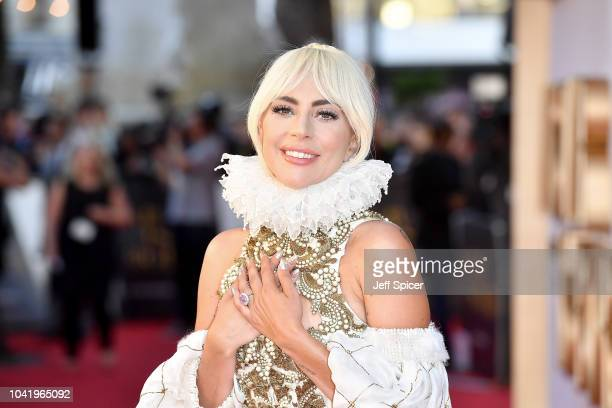 Lady Gaga at 'A Star Is Born' UK Premiere at Vue West End on September 27, 2018 in London, England.