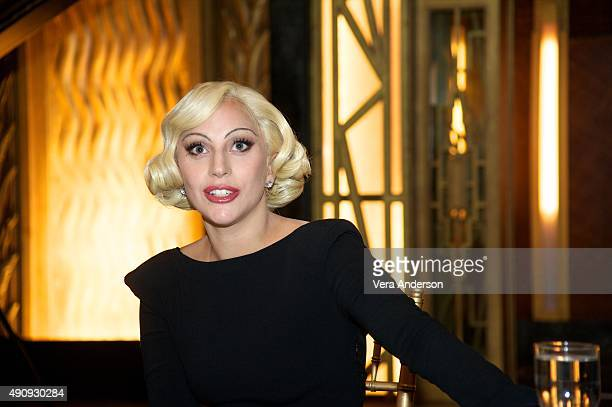Lady Gaga at the 'American Horror Story Hotel' Press Conference at Fox Studio Lot on October 1 2015 in Century City California