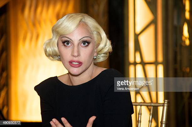 Lady Gaga at the American Horror Story Hotel Press Conference at Fox Studio Lot on October 1 2015 in Century City California