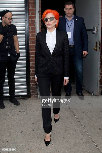 """Lady Gaga at the """"Nicopanda Fashion Collection Presentation"""" - departures during NYFW A/W 2016 at 541 West 22nd Street in New York City. �� LAN"""