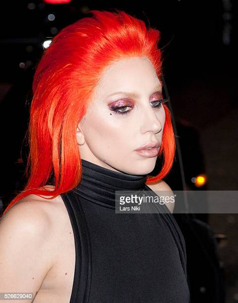 Lady Gaga at the V Magazine Party outside arrivals during NYFW A/W 2016 at The Rainbow Room in New York City �� LAN