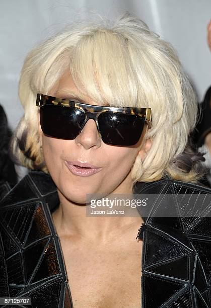 Lady Gaga attends 1027 KIISFM's Wango Tango at Verizon Wireless Amphitheater on May 9 2009 in Irvine California