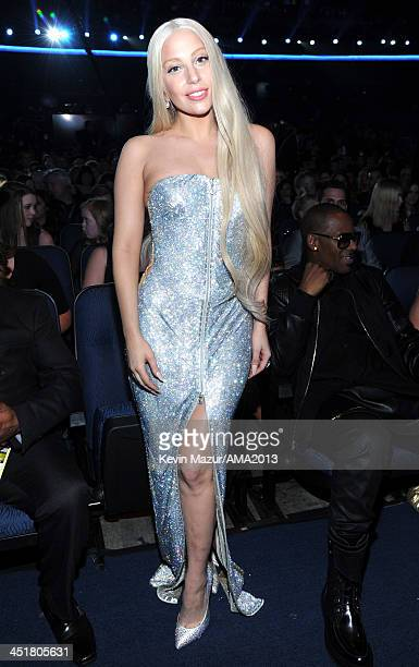Lady Gaga attends 2013 American Music Awards at Nokia Theatre L.A. Live on November 24, 2013 in Los Angeles, California.