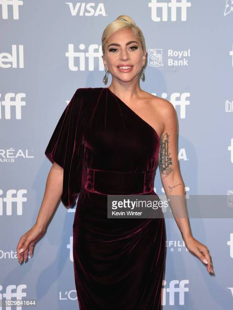Lady Gaga attends 2018 Toronto International Film Festival A Star Is Born Press Conference at TIFF Bell Lightbox on September 9 2018 in Toronto Canada