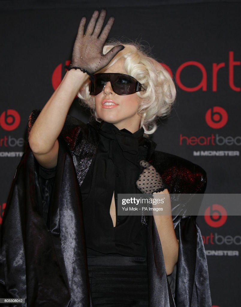 Lady Gaga attends a photocall to launch her new audio-visual