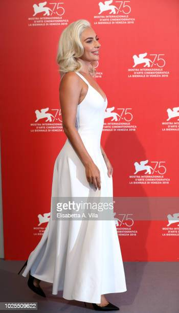 Lady Gaga attends 'A Star Is Born' photocall during the 75th Venice Film Festival at Sala Casino on August 31 2018 in Venice Italy