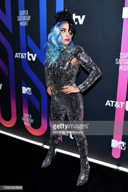 Lady Gaga attends ATT TV Super Saturday Night at Meridian at Island Gardens on February 01 2020 in Miami Florida
