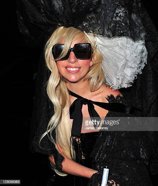 Lady Gaga attends Beyonce's concert at the Roseland Ballroom on August 18 2011 in New York City