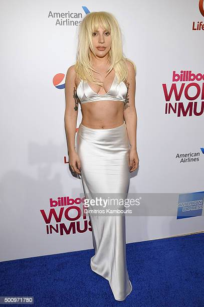 Lady Gaga attends Billboard's 10th Annual Women In Music at Cipriani 42nd Street on December 11 2015 in New York City