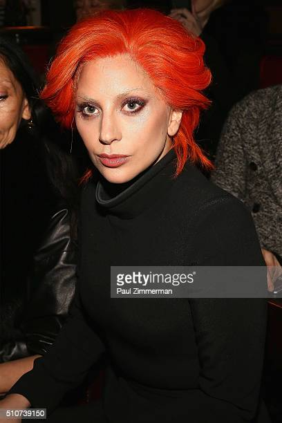 Lady Gaga attends Brandon Maxwell Fall 2016 New York Fashion Week at Monkey Bar on February 16, 2016 in New York City.