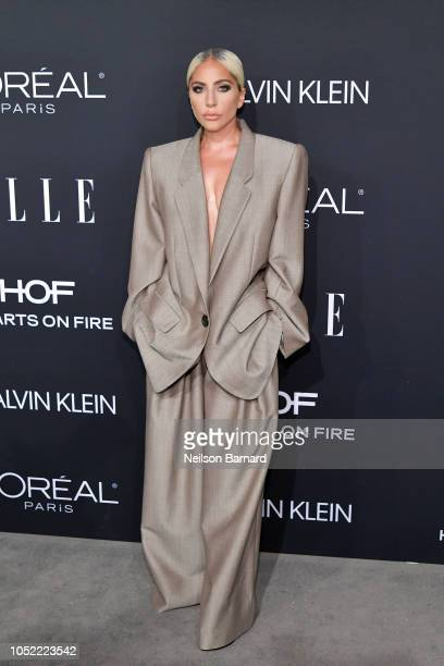 Lady Gaga attends ELLE's 25th Annual Women In Hollywood Celebration presented by L'Oreal Paris, Hearts On Fire and CALVIN KLEIN at Four Seasons Hotel...