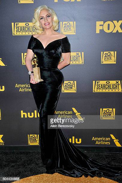 Lady GaGa attends Fox And FX's 2016 Golden Globe Awards Party on January 10 2016 in Beverly Hills California