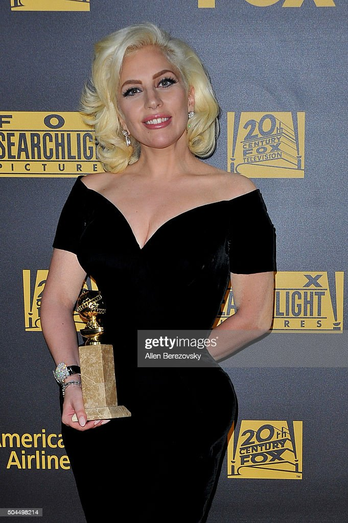 Lady GaGa attends Fox And FX's 2016 Golden Globe Awards Party on January 10, 2016 in Beverly Hills, California.