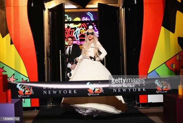 Lady Gaga attends Gaga's Workshop Ribbon Cutting at Barneys New York on November 21 2011 in New York City