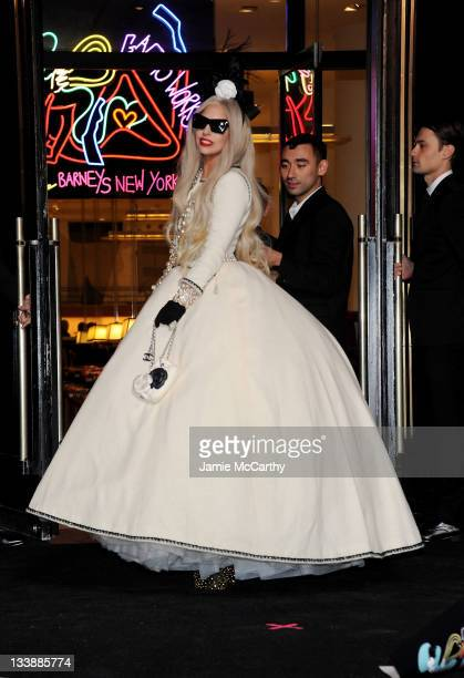 Lady Gaga attends Gaga's Workshop Ribbon Cutting at Barneys New York on November 21 2011 in New York City