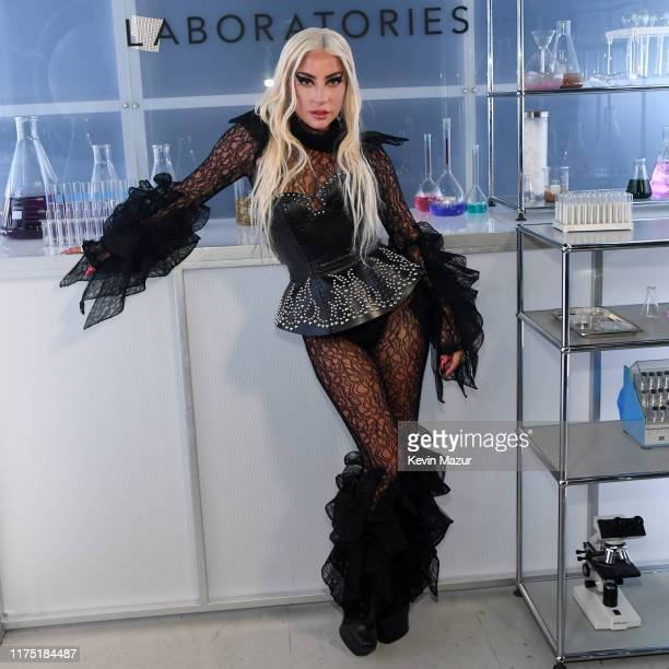 Lady Gaga attends Lady Gaga Celebrates the Launch of Haus Laboratories at Barker Hangar on September 16 2019 in Santa Monica California