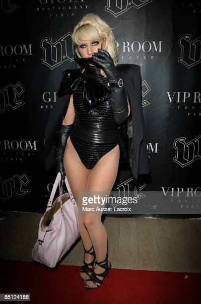 Lady Gaga attends Lady Gaga's official night at VIP Room Theatre on February 25 2009 in Paris