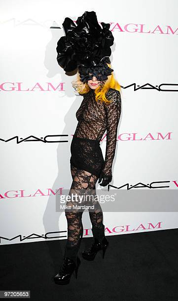 Lady Gaga attends MAC VIVA GLAM launch photocall on March 1, 2010 in London, England.