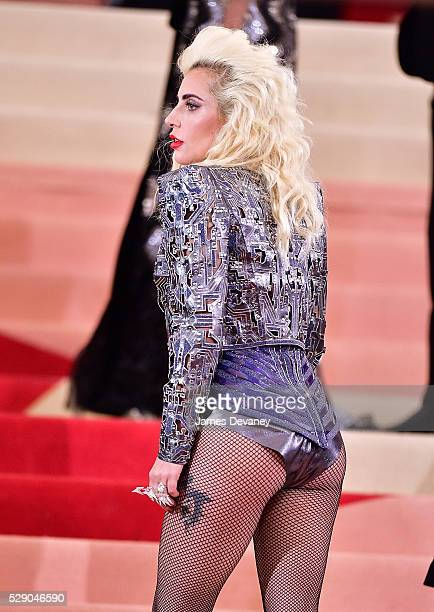 Lady Gaga attends 'Manus x Machina Fashion in an Age of Technology' Costume Institute Gala at Metropolitan Museum of Art on May 2 2016 in New York...