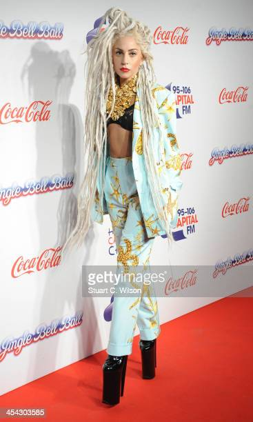 Lady GaGa attends on day 2 of the Capital FM Jingle Bell Ball at 02 Arena on December 8 2013 in London England