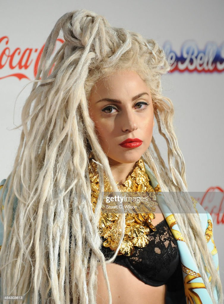 Lady GaGa attends on day 2 of the Capital FM Jingle Bell Ball at 02 Arena on December 8, 2013 in London, England.