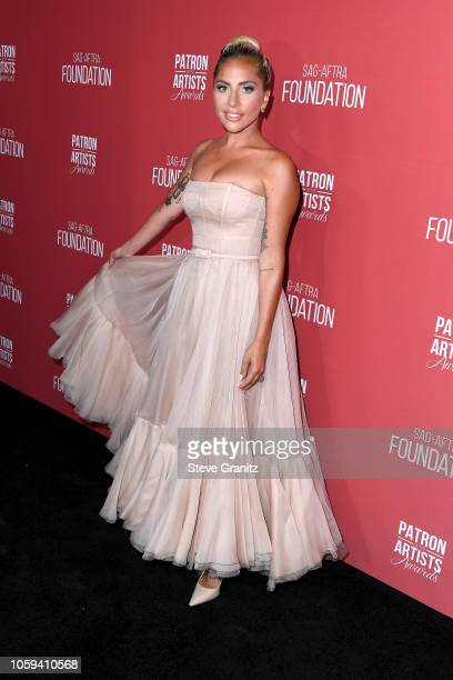 Lady Gaga attends SAG-AFTRA Foundation's 3rd Annual Patron of the Artists Awards at Wallis Annenberg Center for the Performing Arts on November 8,...