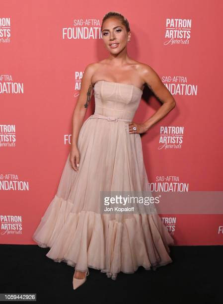 Lady Gaga attends SAGAFTRA Foundation's 3rd Annual Patron Of The Artists Awards at Wallis Annenberg Center for the Performing Arts on November 8 2018...