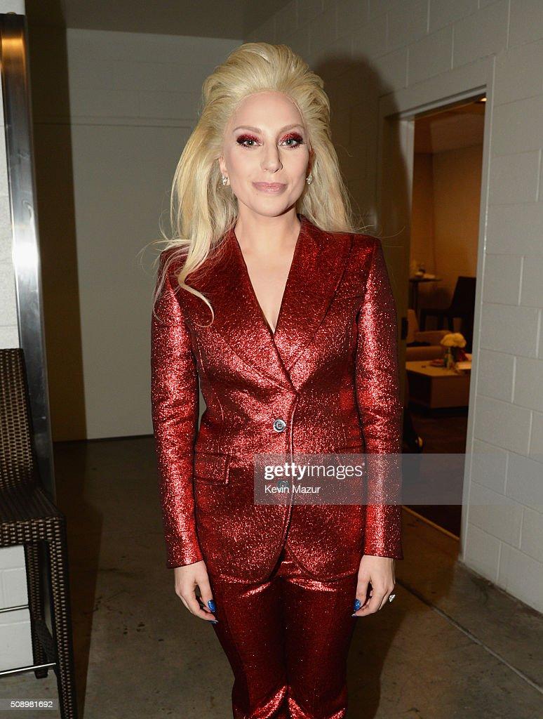 Lady Gaga attends Super Bowl 50 at Levi's Stadium on February 7, 2016 in Santa Clara, California.