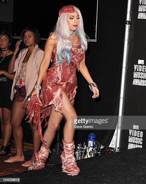 Lady Gaga attends the 2010 MTV Video Music Awards at Nokia Theatre LA Live on September 12 2010 in Los Angeles California