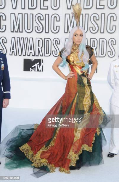 Lady Gaga attends the 2010 MTV Video Music Awards at the Nokia Theatre on September 12 2010 in Los Angeles CA