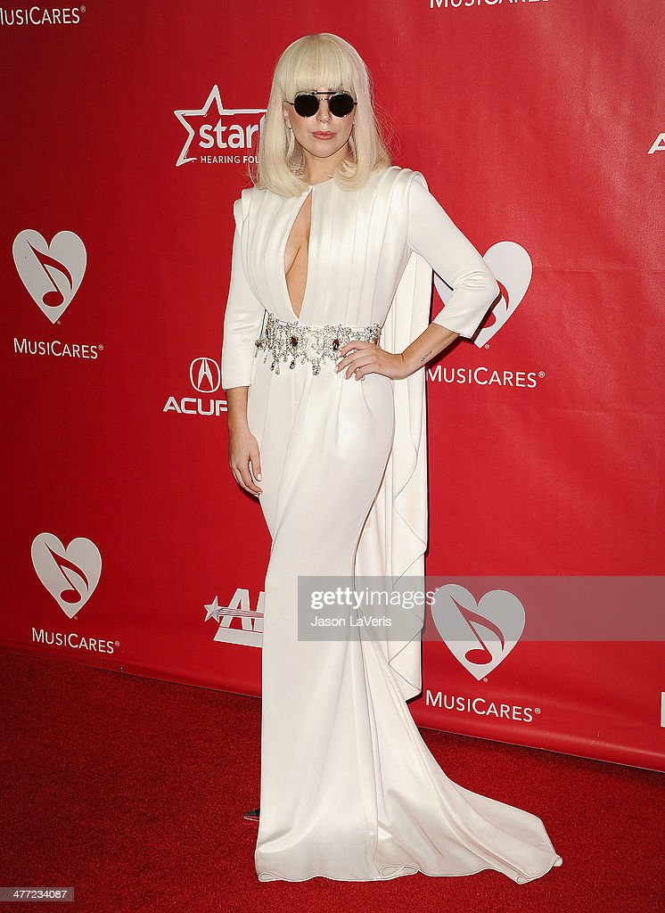 Lady Gaga attends the 2014 MusiCares Person of the Year honoring Carole King at Los Angeles Convention Center on January 24, 2014 in Los Angeles, California.