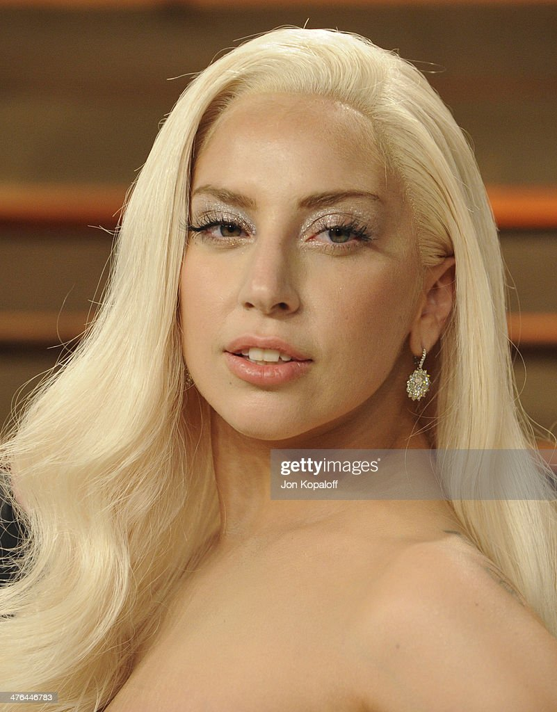Lady Gaga attends the 2014 Vanity Fair Oscar Party hosted by Graydon Carter on March 2, 2014 in West Hollywood, California.