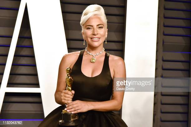 Lady Gaga attends the 2019 Vanity Fair Oscar Party at Wallis Annenberg Center for the Performing Arts on February 24, 2019 in Beverly Hills,...