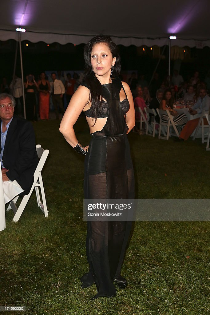 Lady Gaga attends The 20th Annual Watermill Center Summer Benefit at The Watermill Center on July 27, 2013 in Water Mill, New York.