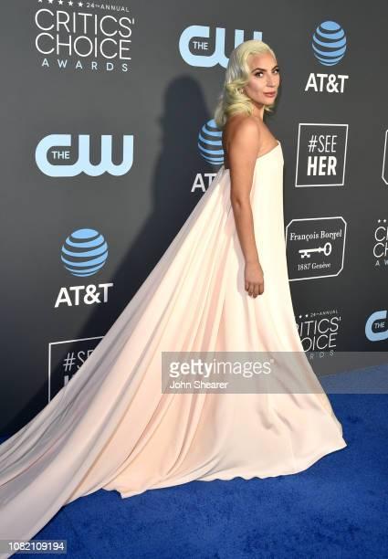 Lady Gaga attends the 24th Annual Critics' Choice Awards at Barker Hangar on January 13 2019 in Santa Monica California