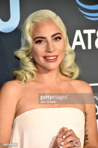 Lady Gaga attends the 24th Annual Critics' Choice Awards at Barker Hangar on January 13 2019 in Santa Monica California
