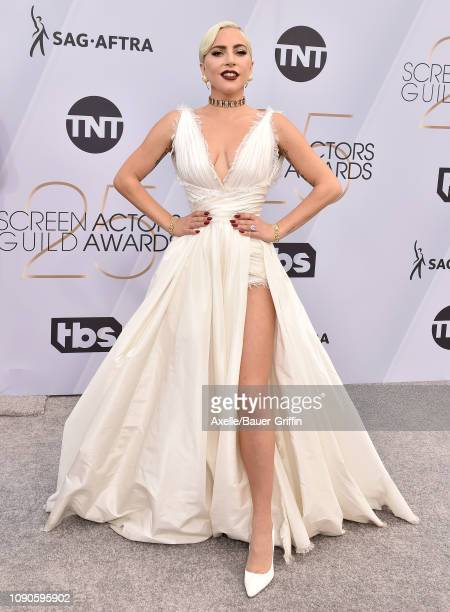 Lady Gaga attends the 25th Annual Screen Actors Guild Awards at The Shrine Auditorium on January 27, 2019 in Los Angeles, California.