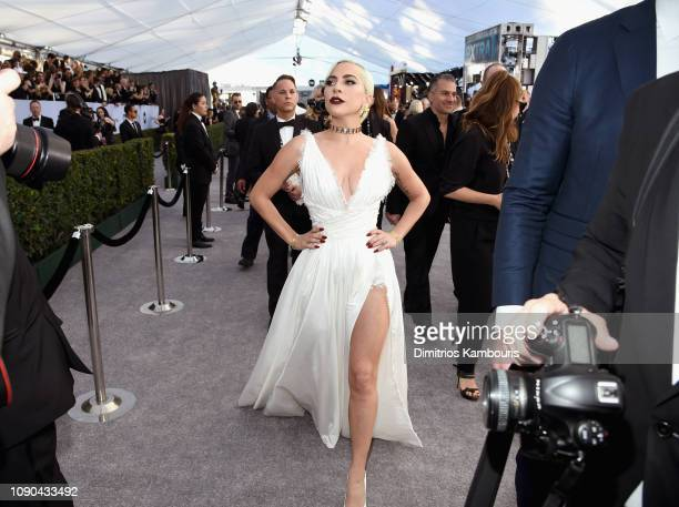 Lady Gaga attends the 25th Annual Screen ActorsGuild Awards at The Shrine Auditorium on January 27, 2019 in Los Angeles, California. 480595