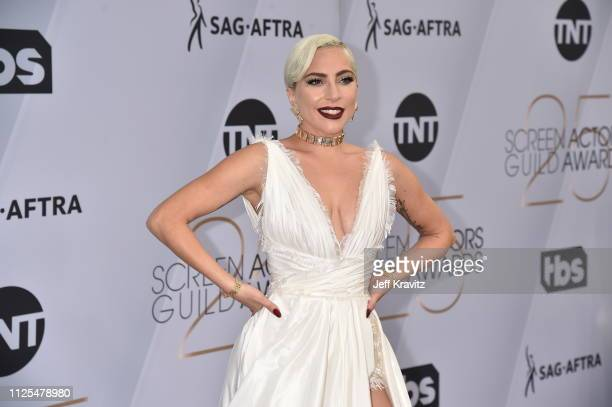 Lady Gaga attends the 25th Annual Screen ActorsGuild Awards at The Shrine Auditorium on January 27, 2019 in Los Angeles, California.