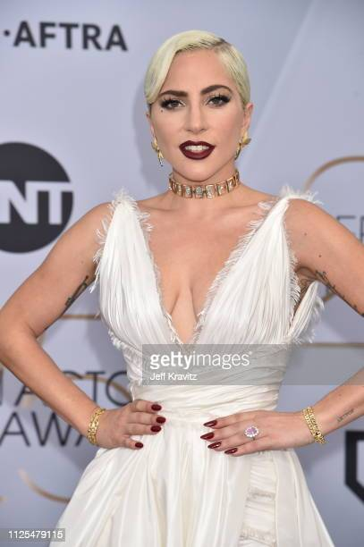 Lady Gaga attends the 25th Annual Screen ActorsGuild Awards at The Shrine Auditorium on January 27 2019 in Los Angeles California