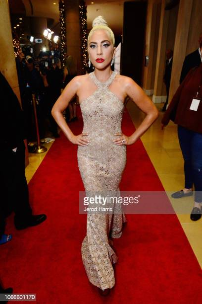 Lady GaGa attends the 32nd American Cinematheque Award Presentation Honoring Bradley Cooper Presented by GRoW @ Annenberg Presentation and The 4th...
